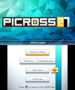Picross E7 (3DS)   © Jupiter 2016    1/3