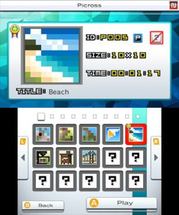 Picross E7 (3DS)   © Jupiter 2016    2/3