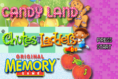 Candy Land / Chutes & Ladders / Original Memory Game (GBA)   © Zoo Games 2005    1/3