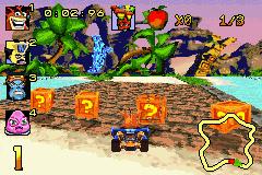 Crash Superpack: Crash Bandicoot 2: N-Tranced / Crash Nitro Kart (GBA)  © VU Games 2005   2/3