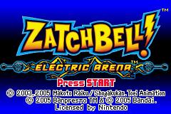 ZatchBell! Electric Arena (GBA)  © Bandai 2003   1/3