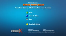 Dodge These Balls (X360)  © EntwicklerX 2009   1/3