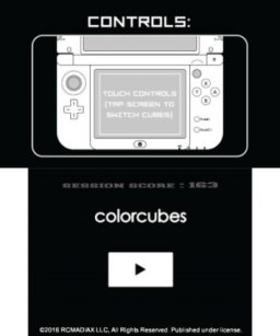 Color Cubes (3DS)  © RCMADIAX 2017   1/3