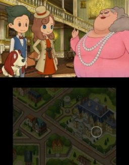 Layton's Mystery Journey: Katrielle And The Millionaire's Conspiracy (3DS)   © Nintendo 2017    2/3