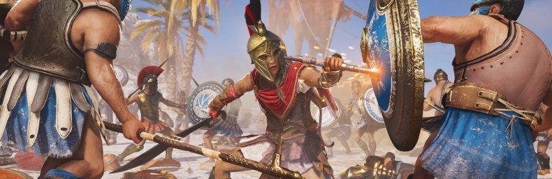 <h2 class='titel'>Assassin's Creed Odyssey</h2><div><span class='citat'>&bdquo;Jeg nuppede faktisk den store pakke og afventer nu valgfri level scaling. Der er lidt i nyeste patch, men slet ikke nok:  &quot;Naval  Conquest Battles no longer scale with the player's level but stay on the region's le...&ldquo;</span><span class='forfatter'>- Wehner</span></div>
