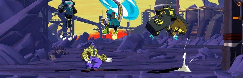 <h2 class='titel'>Lethal League Blaze</h2><h2 class='score'>7/10</h2><div><span class='citat'>&bdquo;Forhåbentligt, med fremtidige opdateringer, får Team Reptile rettet op på styringen, for Lethal League Blaze fortjener virkelig at blive en succes.&ldquo;</span><span class='forfatter'>- Søren Svanhof, Gamereactor</span></div>