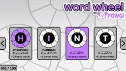 Word Wheel By POWGI (NS)   © Lightwood 2019    1/3