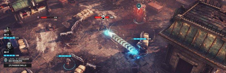 """<h2 class='titel'>Gears Tactics</h2><h2 class='score'>8/10</h2><div><span class='citat'>""""...en absolut vellykket krydsning mellem tilgængelige men udfordrende strategispil og Gears-seriens arsenal motorsavsbajonetter, underjordiske monstre og brutale henrettelsesanimationer.""""</span><span class='forfatter'>- Magnus Laursen, Gamereactor</span></div>"""