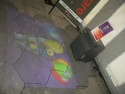 The Cube er en slags EyeToy på gulvet, som måske på grund af lysforholdene i teltet virkede meget begrænset. 33/58