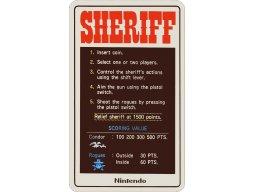 Sheriff (ARC)  © Nintendo 1980   1/3