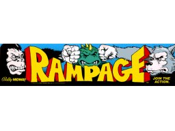 Rampage (ARC)  © Bally Midway 1986   2/2
