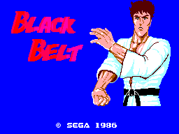 Black Belt (SMS)  © Sega 1986   1/3
