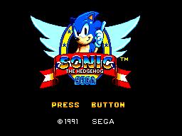 Sonic The Hedgehog (SMS)  © Sega 1991   1/12