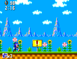 Sonic The Hedgehog (SMS)  © Sega 1991   5/12