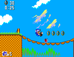 Sonic The Hedgehog (SMS)  © Sega 1991   7/12