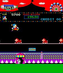 Circus Charlie (ARC)  © Konami 1984   3/6