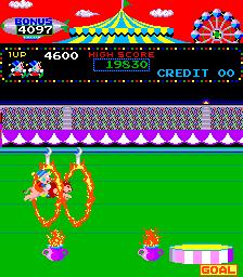Circus Charlie (ARC)  © Konami 1984   2/6