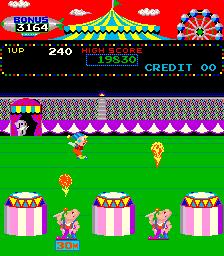 Circus Charlie (ARC)  © Konami 1984   4/6