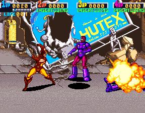 X-Men (ARC)  © Konami 1992   4/12