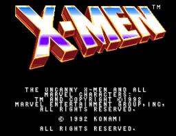 X-Men (ARC)  © Konami 1992   1/12