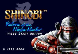 Shinobi III: Return Of The Ninja Master (SMD)  © Sega 1993   1/3