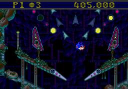 Sonic Spinball (SMD)  © Sega 1993   3/4