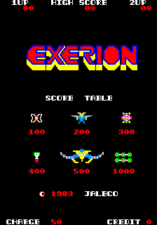 Exerion (ARC)   © Jaleco 1983    1/4