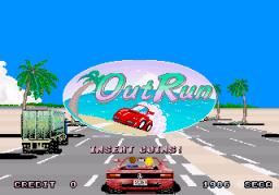 Out Run (ARC)  © Sega 1986   1/4