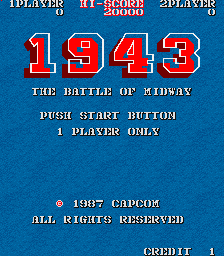1943: The Battle Of Midway (ARC)  © Capcom 1987   1/5