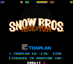 Snow Bros.: Nick & Tom (ARC)  © Toaplan 1990   1/4