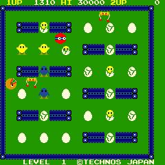 Scrambled Egg (ARC)  © Technos 1983   4/4