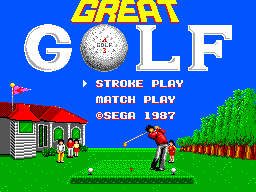 Great Golf (SMS)  © Sega 1987   1/3
