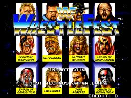 WWF Wrestlefest (ARC)  © Technos 1991   1/5