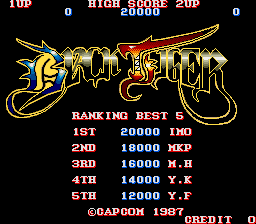 Black Tiger (ARC)   © Capcom 1987    1/5