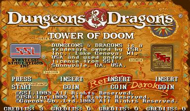 Dungeons & Dragons: Tower Of Doom (ARC)  © Capcom 1994   6/25