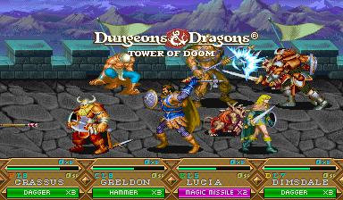 Dungeons & Dragons: Tower Of Doom (ARC)  © Capcom 1994   7/25