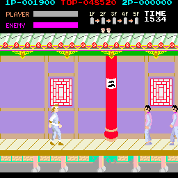 Kung-Fu Master (ARC)   © Data East 1984    3/4