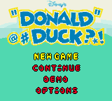 Donald Duck: Quack Attack  © Ubisoft 2000  (GBC)   1/3