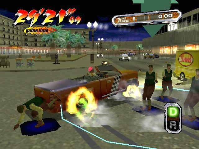 Crazy Taxi 3: High Roller (XBX)  © Sega 2002   4/4