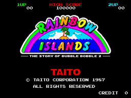 Rainbow Islands (ARC)  © Taito 1987   1/4