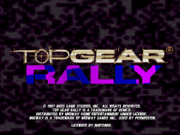 Top Gear Rally (N64)  © Midway 1997   1/4