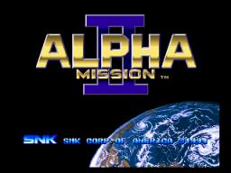 Alpha Mission II (MVS)  © SNK 1991   1/9
