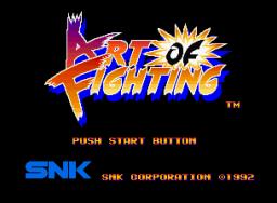 Art Of Fighting (MVS)  © SNK 1992   1/11