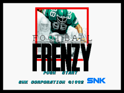 Football Frenzy (1992) (MVS)   © SNK 1992    1/3