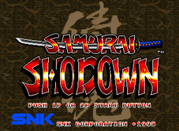 Samurai Shodown (MVS)  © SNK 1993   1/3