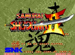 Samurai Shodown II (MVS)  © SNK 1994   1/3