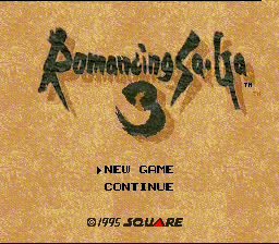 Romancing SaGa 3 (SNES)  © Square 1995   1/7