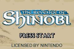 The Revenge Of Shinobi (GBA)  © THQ 2002   1/4