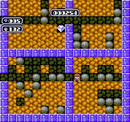 Boulder Dash (NES)  © Nintendo 1990   3/3