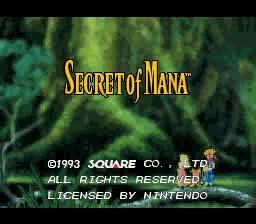 Secret Of Mana (SNES)  © Square 1993   1/8